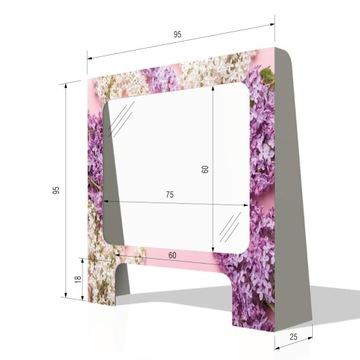 Ochranný štít pre obývaciu izbu Manikúra 95x95cm Plexi