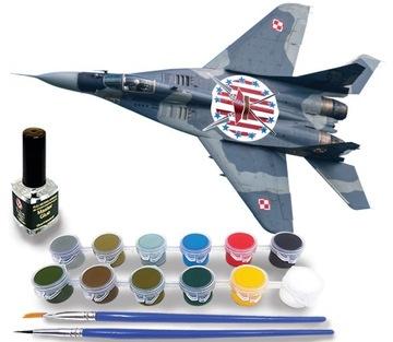 MiG-29A Poľský model pre lepenie + farby a lepidlo