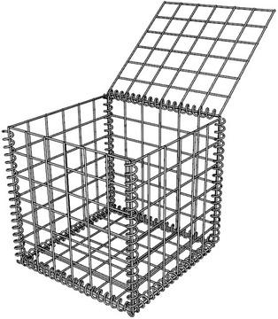 Gabiónový kôš gabionové gabióny 50x50x50 cm