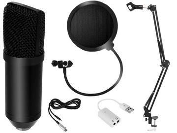 Kapacitný Mikrofón Studio Statívový filter 7W1