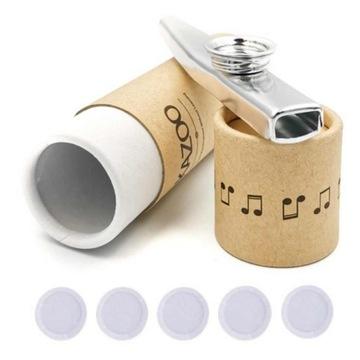 Strieborný kazoo v trubici + 5 membránov zdarma, kov
