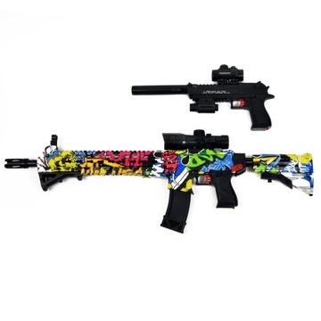 SAFE Rifle. Gun. Automatické gélové guľôčky
