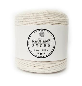Prírodná bavlnená šnúra makramé 200m 3mm