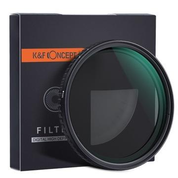 KF sivý filter 77mm Nastaviteľný ND8-ND128 FADER PRO