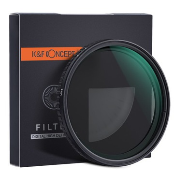 KF sivý filter 82mm Nastaviteľný ND8-ND128 FADER PRO