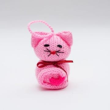 Maskot / prívesok na kľúče ručná výroba Kitten Pink