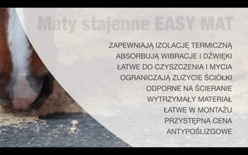 Stajne Mats Easy Mat Mats pre kone