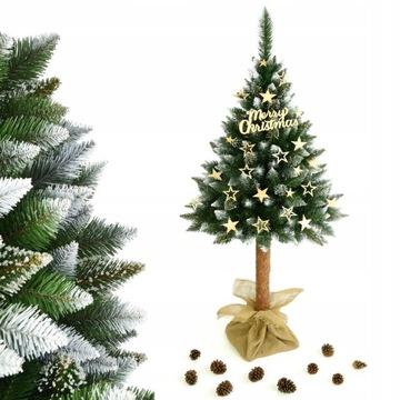 Vianočný strom umelý borovica na diamantovom kufri 160 cm
