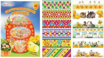 Tričká Samolepky pre Veľkonočné vajíčka 12ks