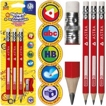 HUSTÉ Trojuholníkové ceruzky ASTRA NA NAUČENIE SA PÍSAŤ