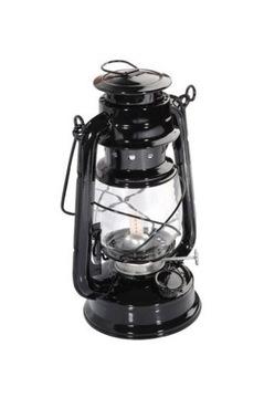 Čierna ropná lampa 24 cm metrox