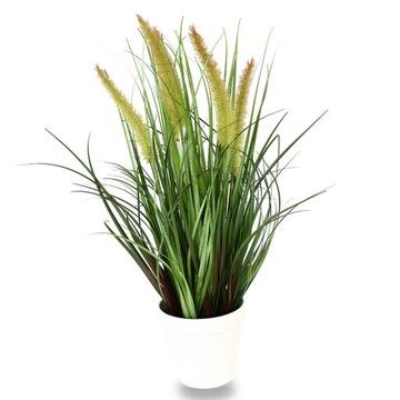 Umelá rastlina tráva v hrnci 46 cm a fejaka