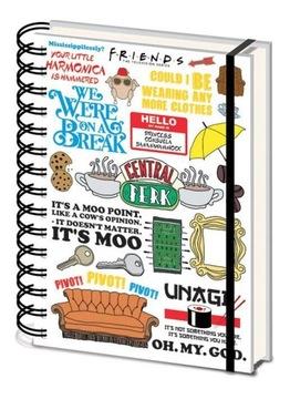 Priatelia priatelia - notebook, poznámky A5 120 listov