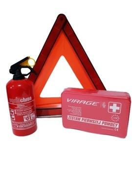 Automobilový hasiaci prístroj 1kg + trojuholník + Kit !!!