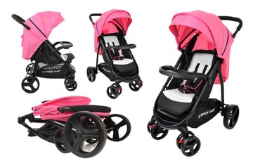 Kočík NEVADA Summer Baby ružovej farby