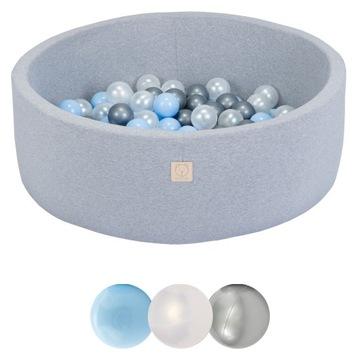 Suchý okrúhly bazén 90x30 šedá + 150 loptu