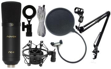 Novox NC-1 plný čierny košík + rameno + pop filter