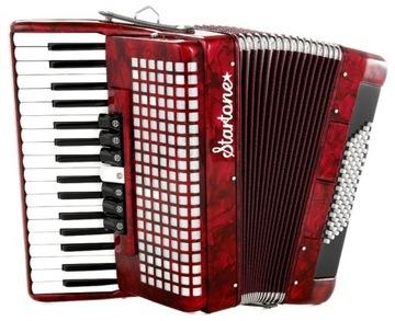AkDeon Starto Piano Red 72 Bass Case
