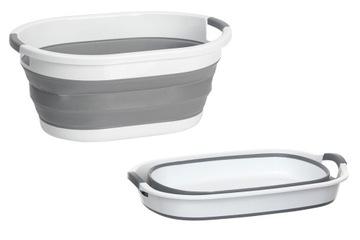 Umývanie košíka spodná bielizeň skladacie sivé silikón