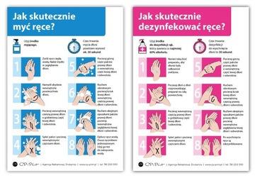 Manuálne umývanie a dezinfekčné ručné nálepky 2 ks.