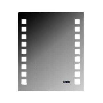 Vertikálne zrkadlo LED 60x50cm + 2-kategória hodiny