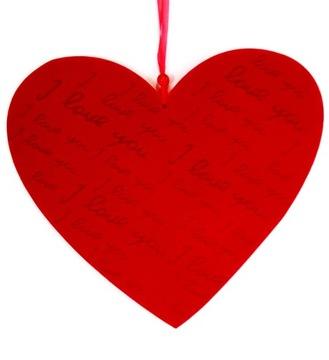 Srdce dekorácie prívesok 25 cm cítil lásku