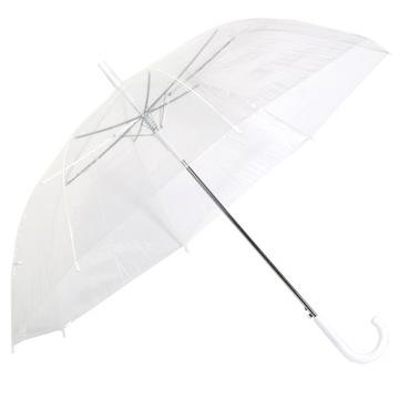 Parasol transparentný dáždnik transparentný XXL