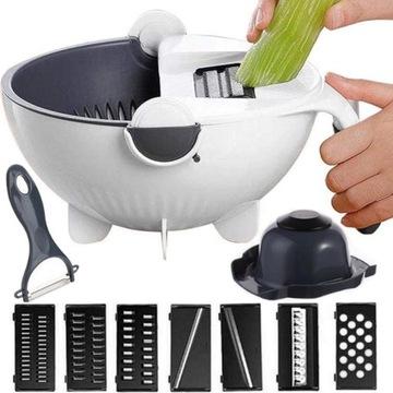 Krájač pre zeleninu s Colander Bowl
