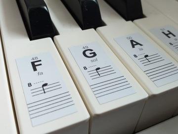 Nálepky Poznámky na klávesnici Klávesnica Piano orgán
