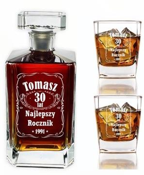 Carafe 2 šálky s rytrom pre whisky