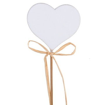 Srdce na palici s dreveným srdcom s útesom