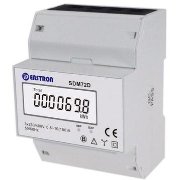 Merač energie 3-fázový trojfázový trojfázový LCD