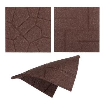 Obojstranná EKO škridla, terasa, hnedá 40x40 cm