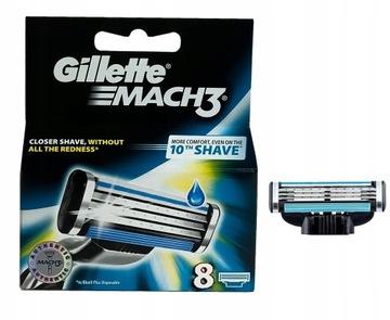 Gillette Mach3 Gilette Blade Cartridges 8 ks
