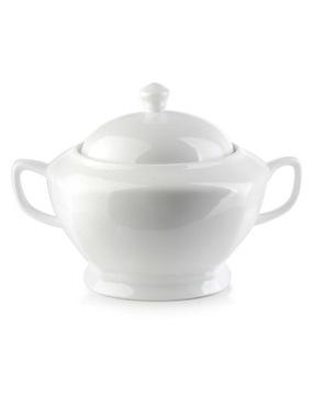 Biela váza pre 3,2 litrovú polievku pre porcelánovú polievku