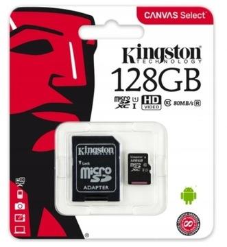 Kingstonová pamäťová karta 128 GB Micro SD trieda 10