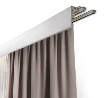 Pásik - kryt maskujúci záclonovú tyč, maskovací rám 10cm
