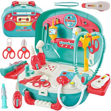 Veľký lekársky set. Little Doctor Doctor v kufri