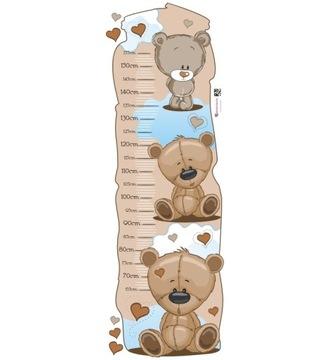 Nálepka pre deti - Miera rastu - Medvedíky