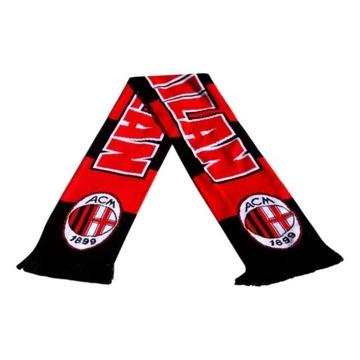 AC Milan Scarf pletenie pre ventilátor