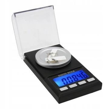 Elektronická hmotnosť šperkov 50g / 0,001g prenosná