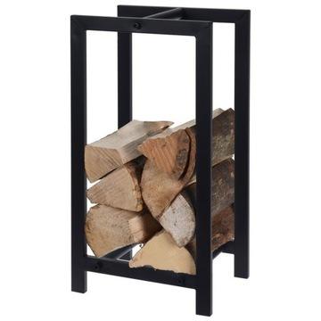 Krbový drevený stojan kovový stojan čierny