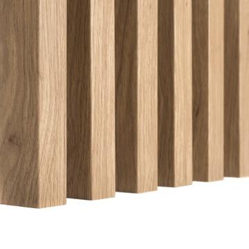 Vertikálne DUBOVÉ 3D drevené lišty na steny MDF