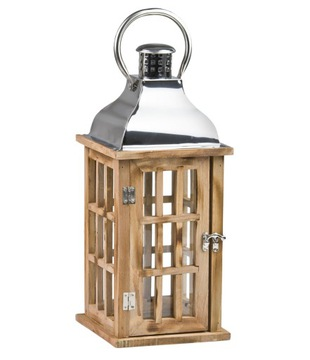 Retro Lantern Flower Lantern H: 40cm - Brown