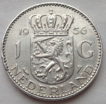 Holandsko - 1 Gulden - 1956 - Juliana