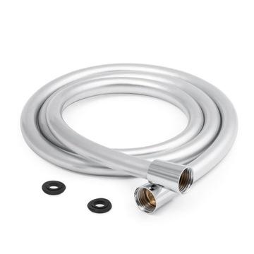 Sprchový had strieborný gumový hladký PVC 360 °