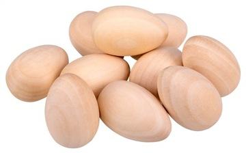Vajcia drevené kuracie vajcia s veľkonočné drevo