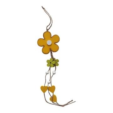 Dlhý prívesok zo žltého kvetu - 38 cm