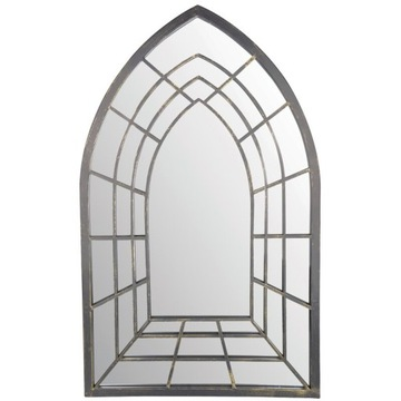 Kovové gotické záhradné zrkadlo 82,5 x 51,2 x 2 cm