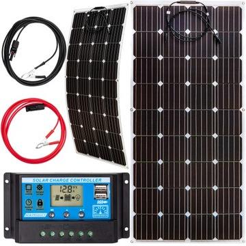 Solárna panelová batéria 160W 12 Flexibilná